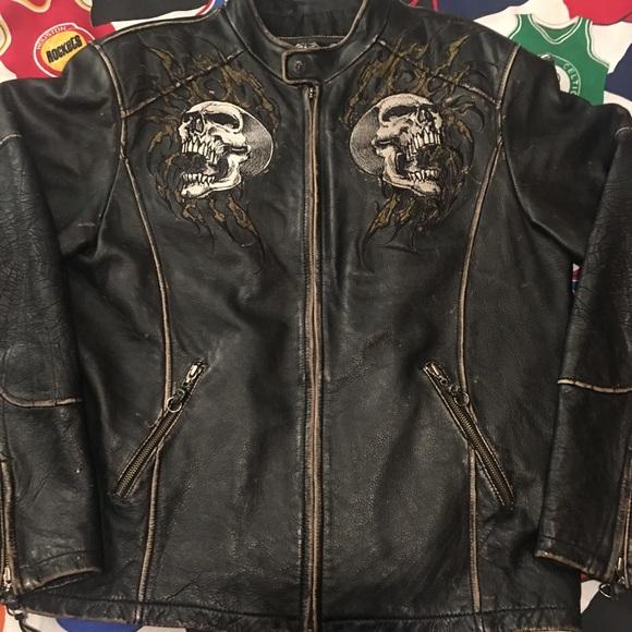 fdb278086 Affliction Limited Edition Skull Leather Jacket